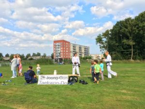 Taekwon-Do school Joong-Gun demonstratie en workshop 't Spiekertje 2016